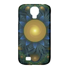 Beautiful Orange & Blue Fractal Sunflower Of Egypt Samsung Galaxy S4 Classic Hardshell Case (pc+silicone) by jayaprime