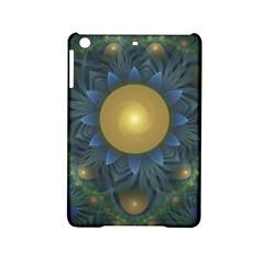 Beautiful Orange & Blue Fractal Sunflower Of Egypt Ipad Mini 2 Hardshell Cases by beautifulfractals