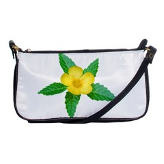 Yellow Flower With Leaves Photo Shoulder Clutch Bags by dflcprints