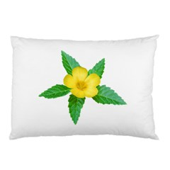 Yellow Flower With Leaves Photo Pillow Case (two Sides) by dflcprints