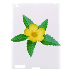 Yellow Flower With Leaves Photo Apple Ipad 3/4 Hardshell Case by dflcprints