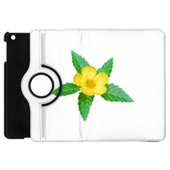 Yellow Flower With Leaves Photo Apple Ipad Mini Flip 360 Case by dflcprints