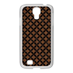 Circles3 Black Marble & Brown Wood (r) Samsung Galaxy S4 I9500/ I9505 Case (white) by trendistuff