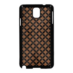 Circles3 Black Marble & Brown Wood (r) Samsung Galaxy Note 3 Neo Hardshell Case (black) by trendistuff