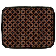 Circles3 Black Marble & Brown Wood Netbook Case (xxl) by trendistuff