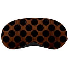 Circles2 Black Marble & Brown Wood (r) Sleeping Mask by trendistuff