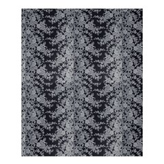 Black Floral Lace Pattern Shower Curtain 60  X 72  (medium)  by paulaoliveiradesign