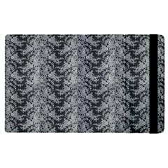 Black Floral Lace Pattern Apple Ipad Pro 9 7   Flip Case by paulaoliveiradesign