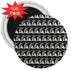 Colorful Pop Art Monkey Pattern 3  Magnets (100 Pack) by paulaoliveiradesign