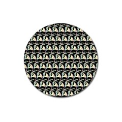 Colorful Pop Art Monkey Pattern Magnet 3  (round) by paulaoliveiradesign