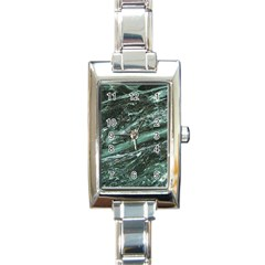 Green Marble Stone Texture Emerald  Rectangle Italian Charm Watch by paulaoliveiradesign