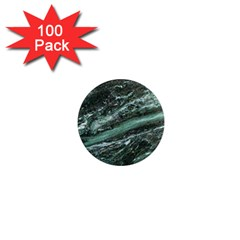Green Marble Stone Texture Emerald  1  Mini Magnets (100 Pack)  by paulaoliveiradesign
