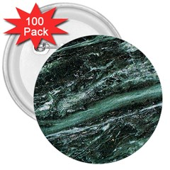 Green Marble Stone Texture Emerald  3  Buttons (100 Pack)  by paulaoliveiradesign