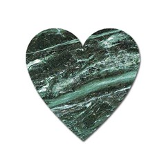 Green Marble Stone Texture Emerald  Heart Magnet by paulaoliveiradesign