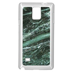 Green Marble Stone Texture Emerald  Samsung Galaxy Note 4 Case (white) by paulaoliveiradesign