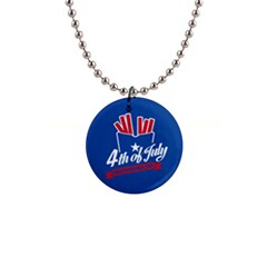 Usa Fries 4july Button Necklace by pushu