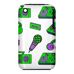 Green Music Pattern Iphone 3s/3gs by TheLimeGreenFlamingo