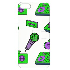 Green Music Pattern Apple Iphone 5 Hardshell Case With Stand by TheLimeGreenFlamingo