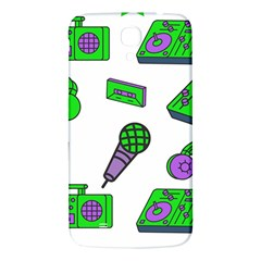 Green Music Pattern Samsung Galaxy Mega I9200 Hardshell Back Case by TheLimeGreenFlamingo