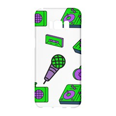 Green Music Pattern Samsung Galaxy S8 Hardshell Case  by TheLimeGreenFlamingo