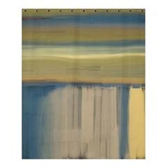 Denim Blue And Buttercream Shower Curtain 60  X 72  (medium)  by theunrulyartist