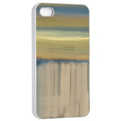 Denim Blue And Buttercream Apple Iphone 4/4s Seamless Case (white) by theunrulyartist