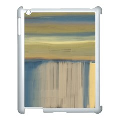 Denim Blue And Buttercream Apple Ipad 3/4 Case (white) by theunrulyartist