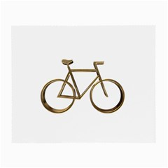 Elegant Gold Look Bicycle Cycling  Small Glasses Cloth by yoursparklingshop