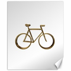 Elegant Gold Look Bicycle Cycling  Canvas 16  X 20   by yoursparklingshop