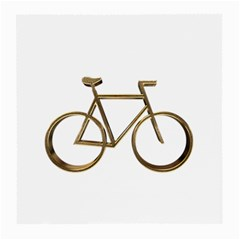 Elegant Gold Look Bicycle Cycling  Medium Glasses Cloth (2 Side) by yoursparklingshop