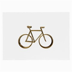 Elegant Gold Look Bicycle Cycling  Large Glasses Cloth by yoursparklingshop