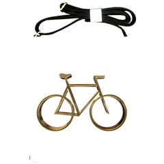 Elegant Gold Look Bicycle Cycling  Shoulder Sling Bags by yoursparklingshop