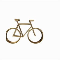 Elegant Gold Look Bicycle Cycling  Small Garden Flag (two Sides) by yoursparklingshop