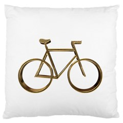 Elegant Gold Look Bicycle Cycling  Standard Flano Cushion Case (one Side) by yoursparklingshop