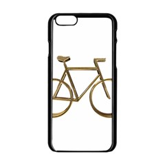 Elegant Gold Look Bicycle Cycling  Apple Iphone 6/6s Black Enamel Case by yoursparklingshop