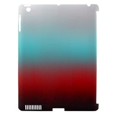 Frosted Blue And Red Apple Ipad 3/4 Hardshell Case (compatible With Smart Cover) by theunrulyartist