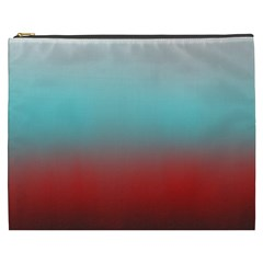 Frosted Blue And Red Cosmetic Bag (xxxl)  by theunrulyartist