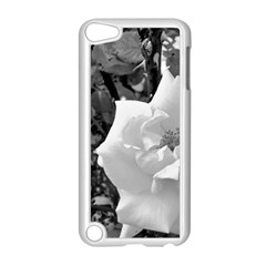 White Rose Black Back Ground Greenery ! Apple Ipod Touch 5 Case (white) by CreatedByMeVictoriaB