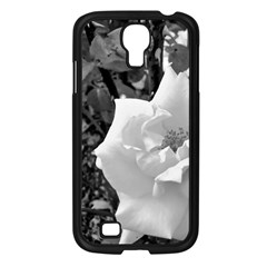 White Rose Black Back Ground Greenery ! Samsung Galaxy S4 I9500/ I9505 Case (black) by CreatedByMeVictoriaB