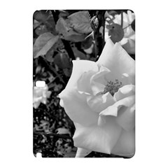 White Rose Black Back Ground Greenery ! Samsung Galaxy Tab Pro 12 2 Hardshell Case by CreatedByMeVictoriaB