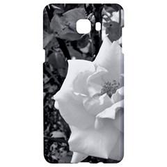 White Rose Black Back Ground Greenery ! Samsung C9 Pro Hardshell Case  by CreatedByMeVictoriaB