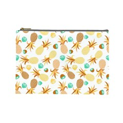 Seamless Summer Fruits Pattern Cosmetic Bag (large)  by TastefulDesigns