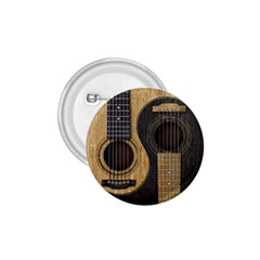 Old And Worn Acoustic Guitars Yin Yang 1 75  Buttons by JeffBartels