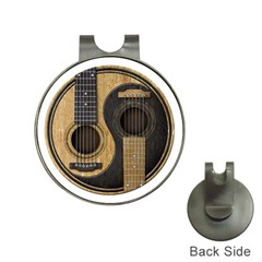 Old And Worn Acoustic Guitars Yin Yang Hat Clips With Golf Markers by JeffBartels