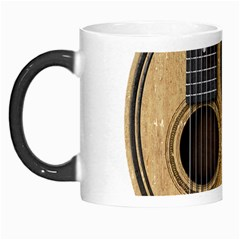 Old And Worn Acoustic Guitars Yin Yang Morph Mugs by JeffBartels