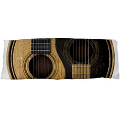 Old And Worn Acoustic Guitars Yin Yang Body Pillow Case Dakimakura (two Sides) by JeffBartels