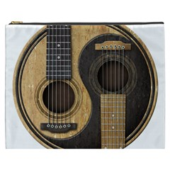 Old And Worn Acoustic Guitars Yin Yang Cosmetic Bag (xxxl)  by JeffBartels