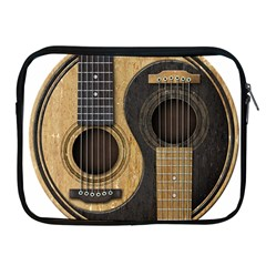 Old And Worn Acoustic Guitars Yin Yang Apple Ipad 2/3/4 Zipper Cases by JeffBartels