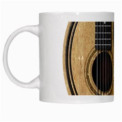 Old And Worn Acoustic Guitars Yin Yang White Mugs by JeffBartels