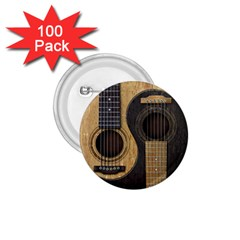 Old And Worn Acoustic Guitars Yin Yang 1 75  Buttons (100 Pack)  by JeffBartels